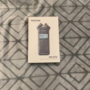 Tascam DR-07X Stereo Digital Audio Recorder for Sale in Orange Park, FL
