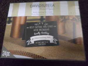 David Tutera Photo Hashtag tent cards (wedding) for Sale in Warren, OH