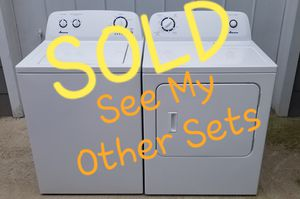 ⭐DEPENDABLE⭐ Amana Whirlpool 👉Washer Dryer Laundry Set for Sale in Portsmouth, VA