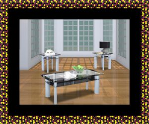 3pc glass coffee table for Sale in Rockville, MD