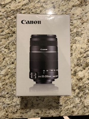 Canon 55-250mm lense for Sale in Silver Spring, MD