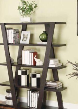 New!! Bookcase, bookshelves, storage unit, organizer, shelving display, 5 shelves display, living room furniture, entrance furniture, capuccino for Sale in Phoenix, AZ
