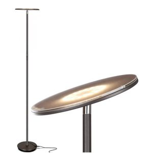Floor Lamp Contemporary Living Room Office Dimmable Indoor Pole Light Up Reading Bedroom Dark Bronze Modern Tall Torchiere LED for Sale in Westbrook, ME