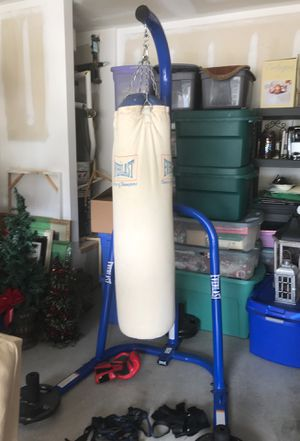 Punching bag with stand and gloves for Sale in Cumming, GA