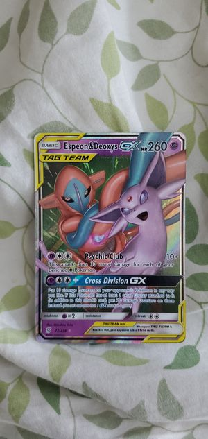 Espeon & Deoxys GX (Holo, Just pulled) for Sale in Mission Viejo, CA