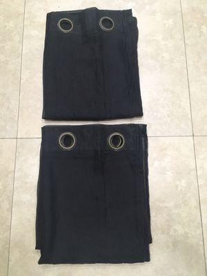 2 black curtains for Sale in Miami, FL