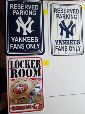 Sports Team PARKING SIGNS for Sale in Rustburg, VA