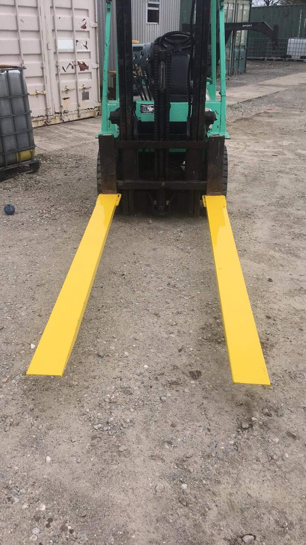 Heavy Duty Forklift Extensions!! Standard are 6 or 8 foot and fit 4-5 inch wide forks.