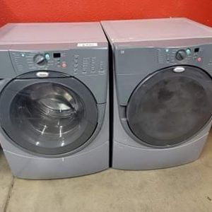 Whirlpool washer And Electric Dryer Set Good Working Condition Set For $349 for Sale in Wheat Ridge, CO