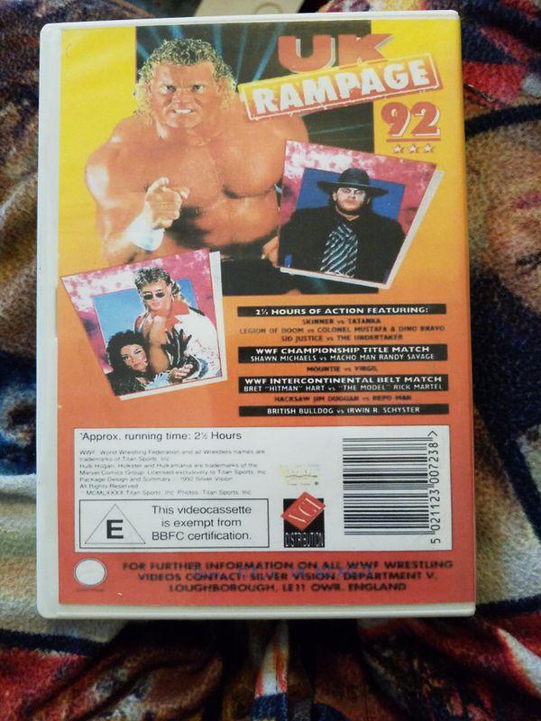 Wwf UK Rampage 1992 Dvd