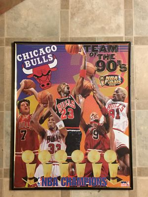 """Chicago Bulls """"Team of the 90's"""" Frame for Sale in Stockton, CA"""
