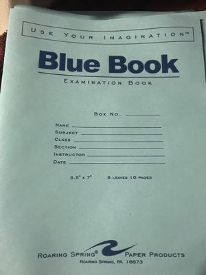 Blue books for college 10 total! for Sale in Danville, PA