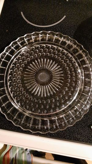 Vintage Geometric edge glass server for Sale in Kingsley, PA