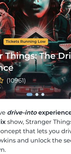 Stranger Things: Drive-Into Experience Tickets for Sale in Vernon,  CA
