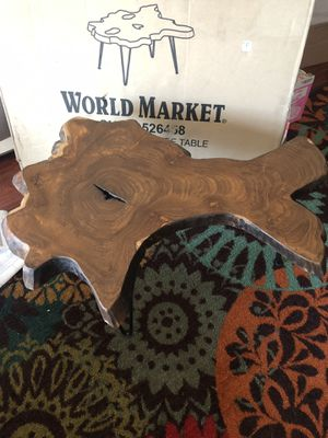 World Market Wood Slice Coffee Table for Sale in Fresno, CA