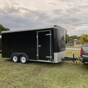 7 X 16 Extra Tall Enclosed Landsape /Cargo Trailer With Ramp Clean Title $4500.00 Firm No Offers for Sale in Hollywood, FL