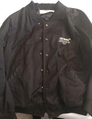 off-white c/o virgil abloh track jacket (black) size L for Sale in Portland, OR