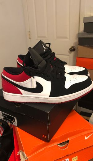 Nike air Jordan 1 low sz 9 Color-way black red white for Sale in Long Beach, CA