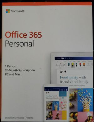 Microsoft Office 365 Personal 12 Month Subscription for Sale in Lodi, CA