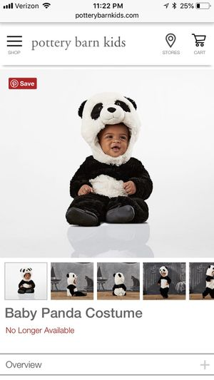 6 mo pottery barn kids panda costume for Sale in Chantilly, VA