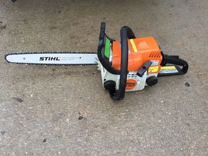 """Stihl MS 180c w/new rollomatic bar. No tools needed to change or tighten. New 16"""" bar and chain!!! for Sale in LK OF THE FST, KS"""