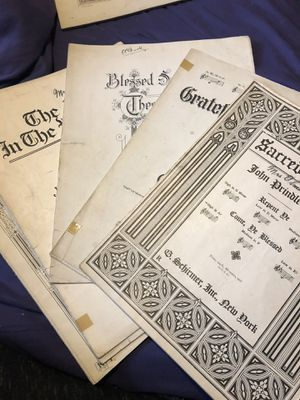 Church sheet music, c. 1920's for Sale in Portland, OR