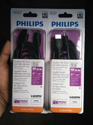 Mini HDMI to HDMI cable for Sale in Brownsville, TX