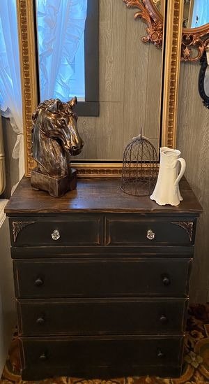 Black Rustic Farmhouse Style Smaller Dresser for Sale in Milwaukie, OR