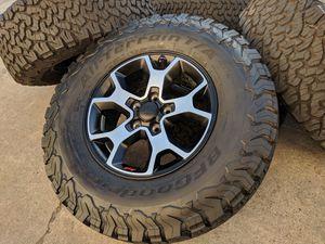 """17"""" Jeep Rubicon Gladiator Rims 5x5 Wheels w/SENSORS Tires Wrangler for Sale in Rio Linda, CA"""