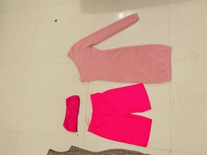 Evening dresses, two piece biker shorts strap less top for Sale in Miami, FL