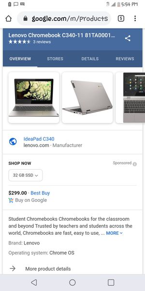 Chromebook lab top for Sale in Puyallup, WA
