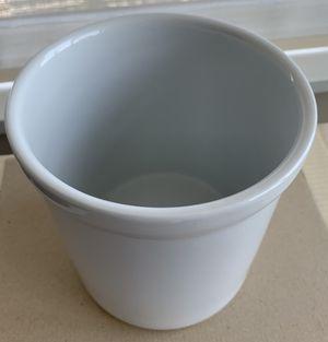 White ceramic utility crock jar for Sale in San Diego, CA