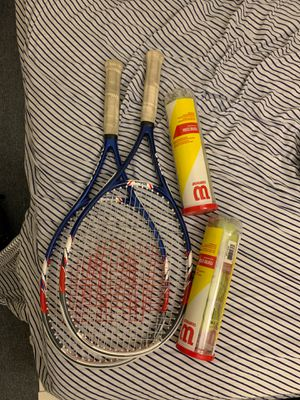 Tennis rackets x2 and balls for Sale in Berkeley, CA