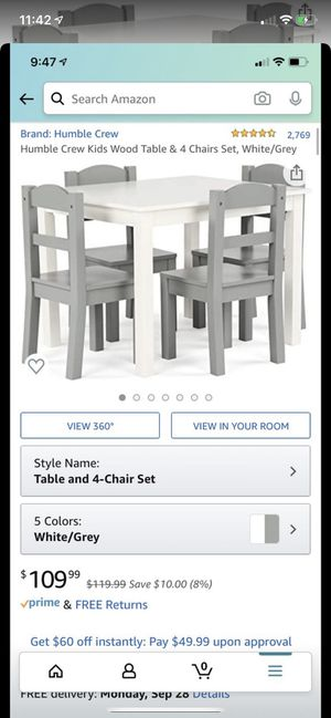 Kids Table 4 piece Set for Sale in Stanton, CA