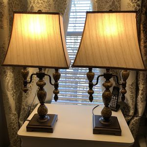 Antique Lamp Set Of 2 Size 27 Inch for Sale in Gaithersburg, MD