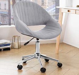 Grey Chair-velvet/adjustable /Swivel chair for Sale in Diamond Bar,  CA