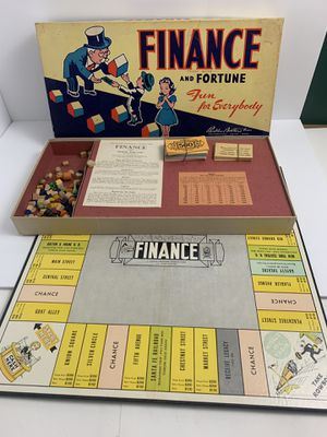 Vintage 1936 Finance And Fortune Board Game / RARE Parker Brothers Board Game for Sale in Elgin, IL
