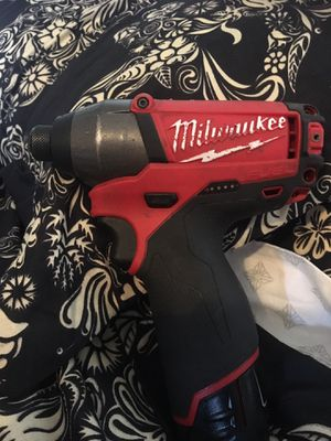 Milwaukee M12 1/4 impact for Sale in Santa Barbara, CA