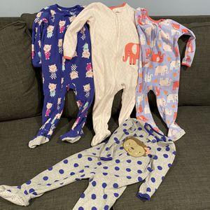 2T Carters Fleece Footie Pjs - Set Of 4 for Sale in Burke, VA
