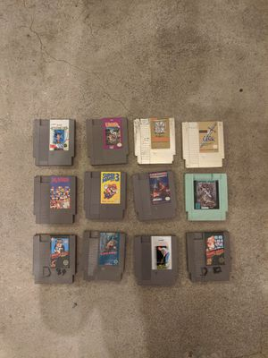 12 nintendo NES games tested and working for Sale in Buena Park, CA