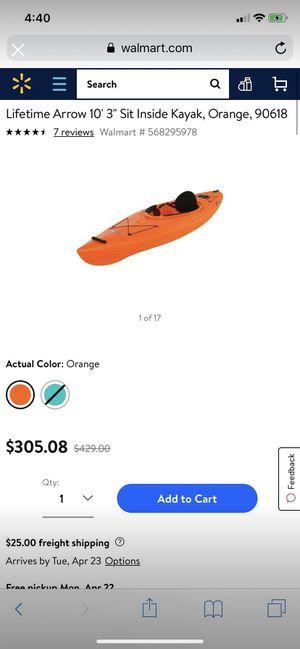 Lancer lifetime Kayak for Sale in Mount Vernon, OH