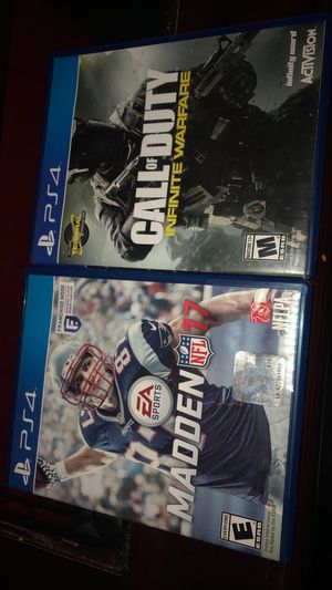 Madden 17 and Call of Dudy Infinit Warfare for Sale in Dallas, TX