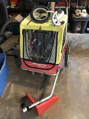 Avenir dual trailer. Bike/ stroller for Sale in Sykesville, MD