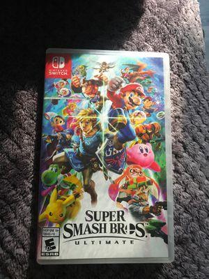 Super Smash Bros Ultimate for Nintendo switch for Sale in Wildomar, CA