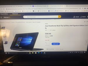 Asus transformer book flip tp200 computer and tablet in one for Sale in Ocean Ridge, FL