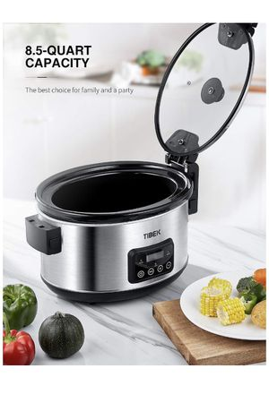 Slow Cooker, 8.5-Quart Programmable Slow Cooker with Digital Timer Up TO 20 Hours, Sealing and Locking Lid, Dishwasher Safe Non-Stick Stoneware Crock for Sale in Corona, CA