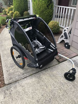 Burley 2 person bike trailer/stroller for Sale in Vancouver, WA