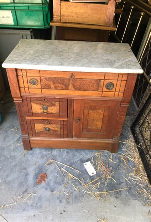 Antique wash stand chest with marble top for Sale in Brazil, IN