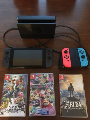 Nintendo Switch plus games and extra controllers for Sale in Sumner, WA