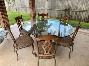 Glass top table with 6 chairs for Sale in Miami, FL